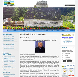 Site de la municipalité de La Conception