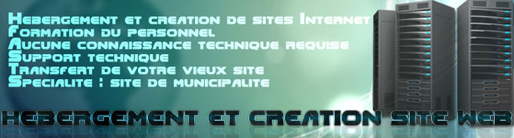 Hébergement et création de Sites Internet, Formation de personnel, Support technique, Sites Web de Municipalités