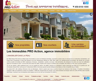 Site Internet des Immeubles Pro-Action inc.
